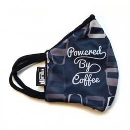 Face Mask Powered By Coffee Print