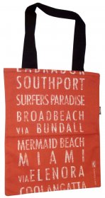 Tote Bag 40x33cm Southport to Coolangatta Red