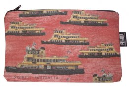 Pencil Case 18x10cm Ferries Red