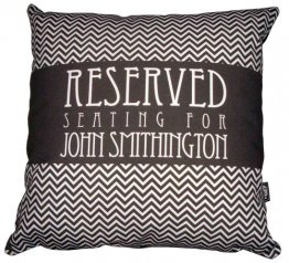 Cushion Personalised Reserved Seating for