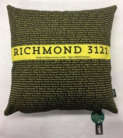 Cushion Yellow & Black Richmond Streets 2019