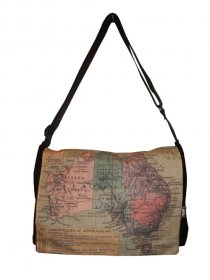 midi Satchel Bag 33x25x7cm Australian Map 1923
