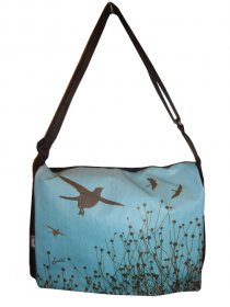 midi Satchel Bag 33x25x7cm Bird Stripe Blue