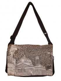 midi Satchel Bag 33x25x7cm Flinders St Etchings