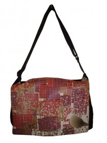 midi Satchel 33x25x7cm Red Bird Dots