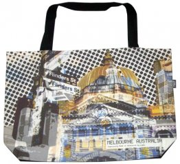 Shopper Bag 30x40x10cm Flinders Street Yellow