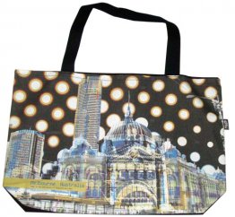 Shopper Bag 30x40x10cm Flinders Street Dots
