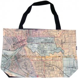 Shopper Bag 30x40x10cm Whiteheads 1887 Map of Melbourne