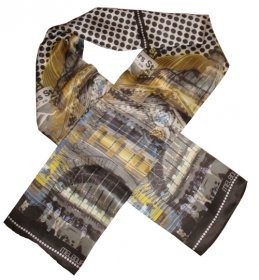 Silk Scarf 150x16cm Flinders Street Yellow