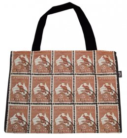 Handy Bag 33X40cm Kangaroo Stamps
