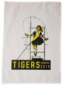 Tea Towel 50x70cm Linen/Cotton Skipping Girl Tigers 2019