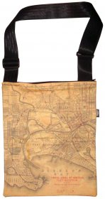 Sling Bag 40x33cm Melbourne US Navy Map