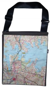 Sling Bag 40x33cm Sydways Sydney CBD Map