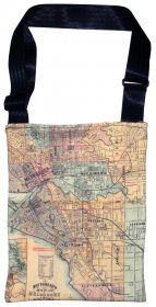 Sling Bag 40x33cm Whiteheads 1887 Map of Melbourne