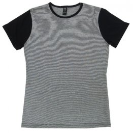 Blak T-Shirt BGW Striped with Black Sleeves Blank