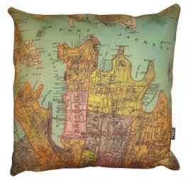Cushion City of Sydney 1885 Map