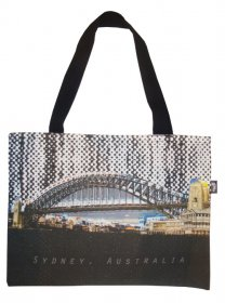 Tote Bag 33X40cm Sydney Harbour Bridge Halftone Rain