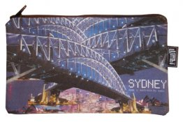 Pencil Case 18x10cm Harbour Bridge Collage
