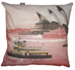 Cushion Sydney Harbour Red