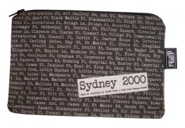 Pencil Case 18x10cm Sydney Streets Black