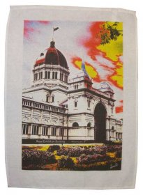 Tea Towel 50x70cm Linen/Cotton Royal Exhibition Building