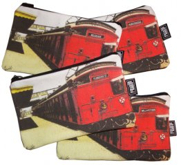 "Pencil Case 18x10cm Tait Train ""Red Rattler"""