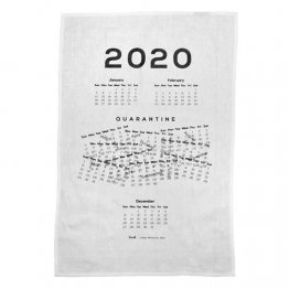 Tea Towel 50x70cm Linen/Cotton Quarantine Jumbled 2020 Calendar