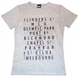 Personalised T-Shirt Destinations Silver Marle