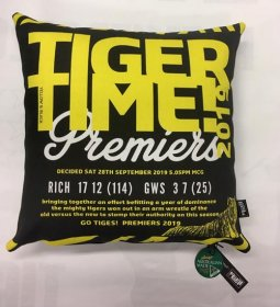 Cushion AFL Richmond Tiger Time Premiership 2019