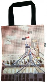 Tote Bag 33X40cm Canberra Parliament Red