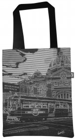 Tote Bag 33X40cm City Tram Circle