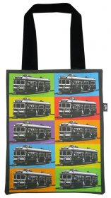 Tote Bag 33X40cm Trams Pop Art