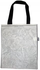 Tote Bag 33X40cm Pugh Almanac's Brisbane Map