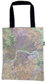 Tote Bag 33X40cm England Map
