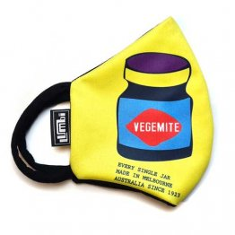 Face Mask Vegemite Purple & Yellow Print