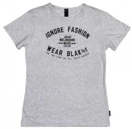 Unisex T-Shirt Silver Marle Ignore Fashion Wear Blak