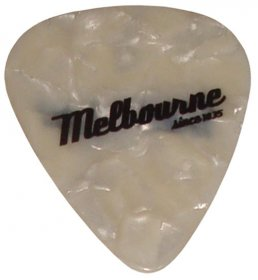 Guitar Pick White Melbourne since 1835