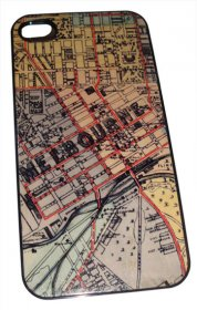 iPhone 4/5 Case Whiteheads 1887 Map of Melbourne