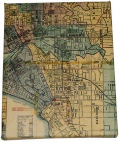 Art Canvas 20x25cm Whiteheads 1887 Map of Melbourne