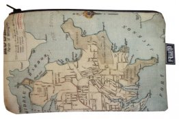 Pencil Case 18x10cm Willoughby's Map