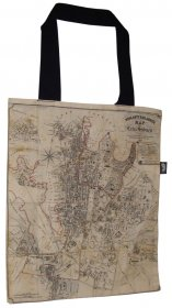 Tote Bag 40x33cm Woolcott & Clarke's Map of Sydney 1854