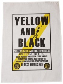 Tea Towel 50x70cm Linen/Cotton Yellow and Black Richmond 2019