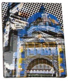 Art Canvas Small 20x25 Flinders Street Blue