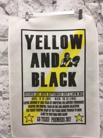 Tea Towel 50x70cm Linen/Cotton Yellow and Black Richmond 2017