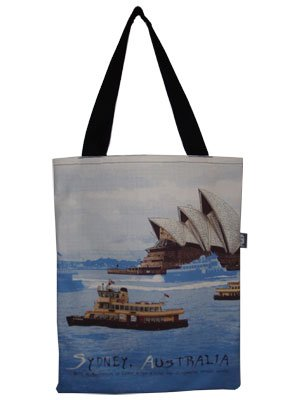 Tote Bag 40x33cm Sydney Harbour Blue