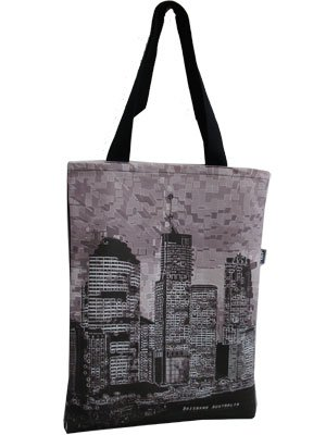 Tote Bag 40x33cm Brisbane River Stencil