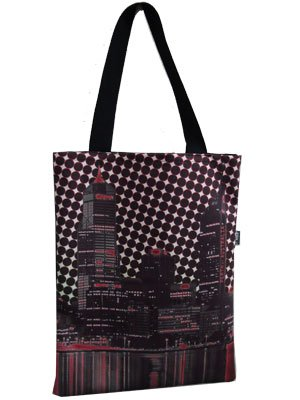 Tote Bag 40x33cm Perth Riverside Red