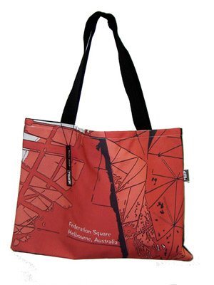 Handy Bag 33x40cm Fed Sqaure Reds