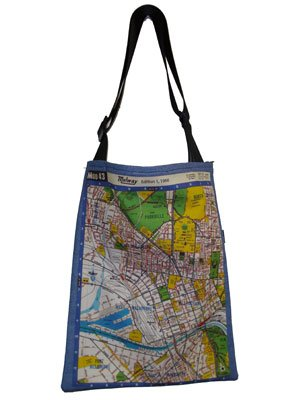 Sling Bag 40x33cm Melway Maps Natural