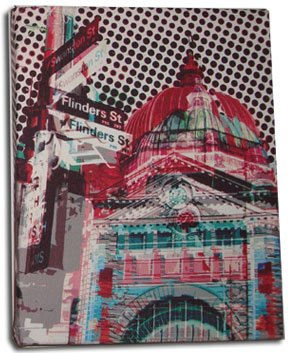 Art Canvas Small 20x25 Flinders Street Red
